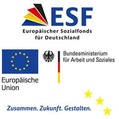 """Das Projekt """"TAF – Teilhabe am Arbeitsmarkt für Flüchtlinge""""  wird im Rahmen der ESF-Integrationsrichtlinie Bund, Handlungsschwerpunkt  Integration von Asylbewerber/innen und Flüchtlingen (IvAF) durch das Bundesministerium für Arbeit und Soziales und den Europäischen Sozialfonds gefördert."""